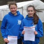 Charlotte & Izzy at the English Schools' Cross-country