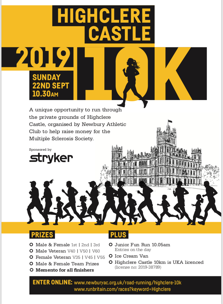 Stryker Highclere 10km – 22nd September 2019